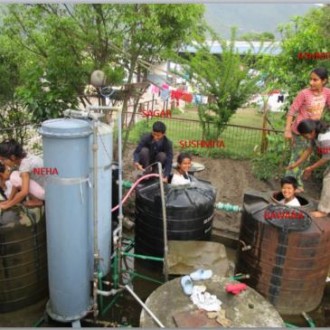 Nettoyage des citernes d'eau